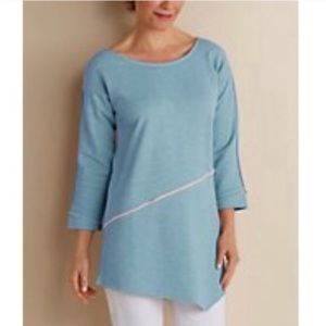 Soft Surroundings Edgy French Terry Pullover Tunic